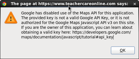 SOLVED] Google has disabled use of the Maps API for this